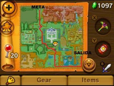 Mapa carrera A Link Between Worlds