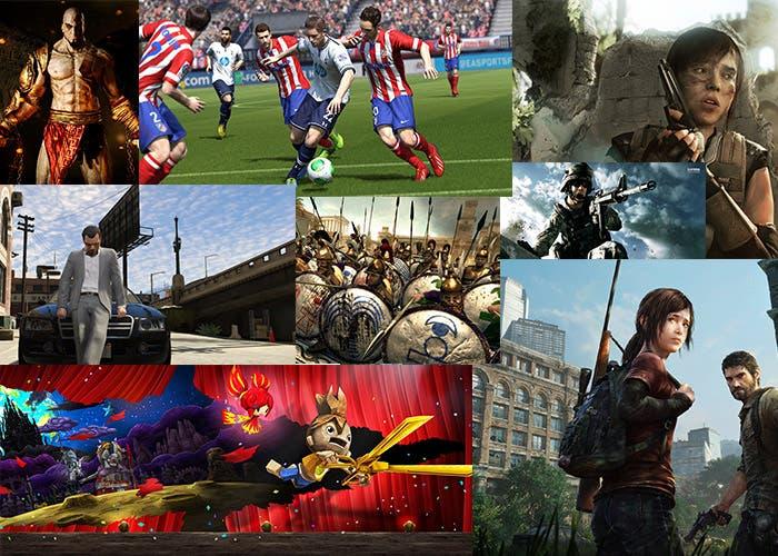 Mosaico con los mejores juegos de 2013