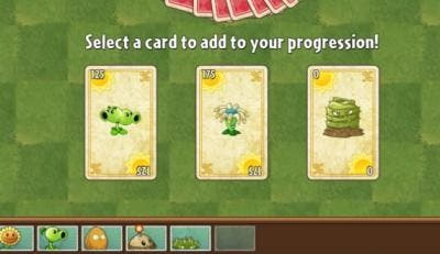 Cartas en Plants vs. Zombies 2