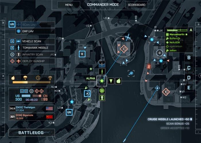 Modo comandante en Battlefield 4