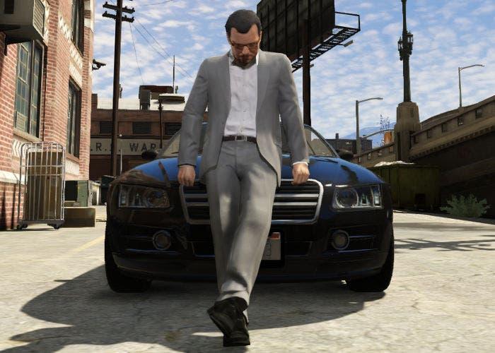 Michael con su coche en GTA 5