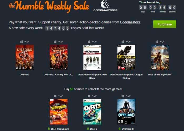 The Humble Bundle Weekly Sale de Codemasters