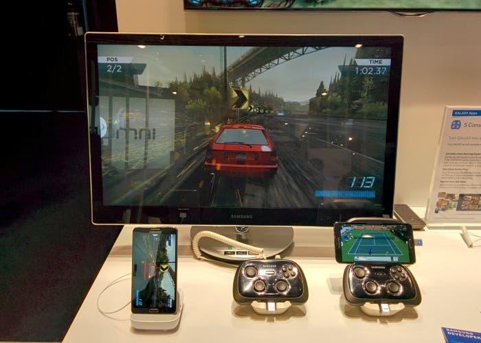 Samsung Gamepad base dock hdmi conectado a TV