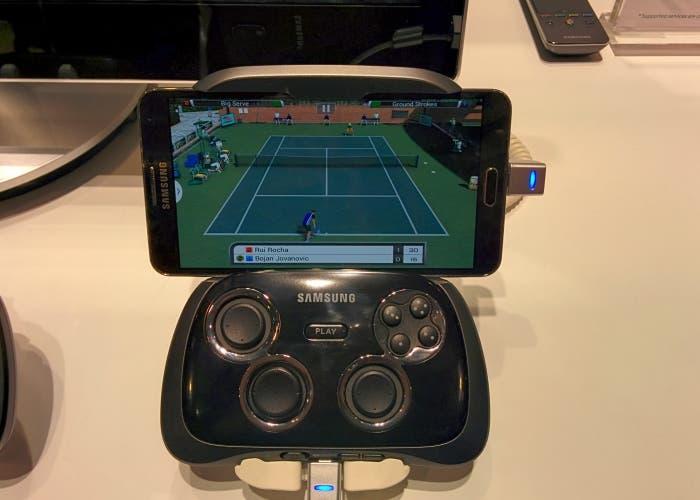 Samsung Gamepad conectado a Galaxy Note