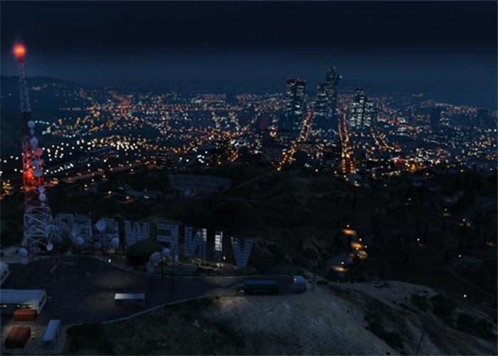 Vista nocturna de la ciudad de Los Santos