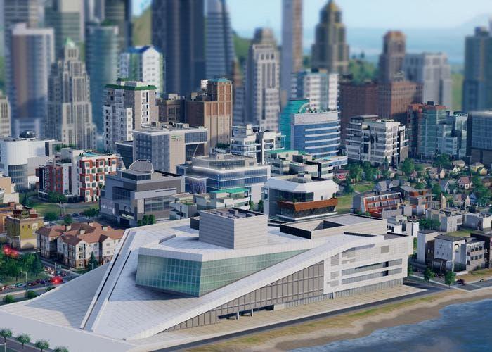 Centro comercial en SimCity