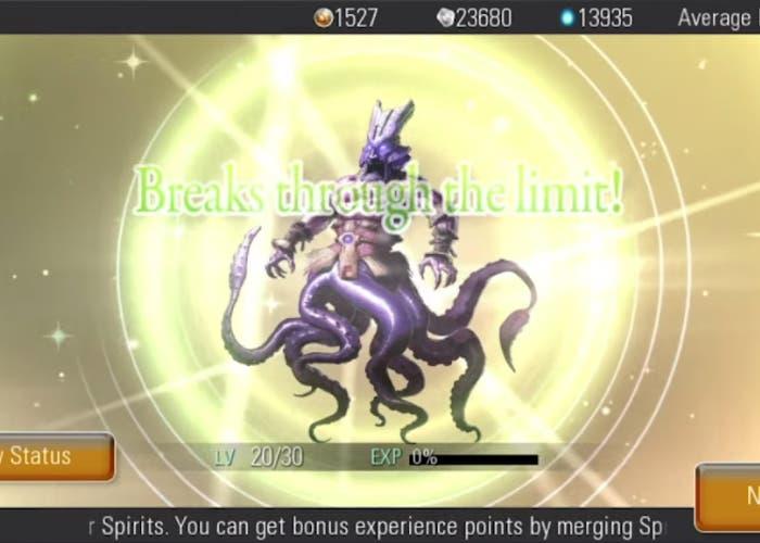 Destiny of spirits romper límite de un espíritu