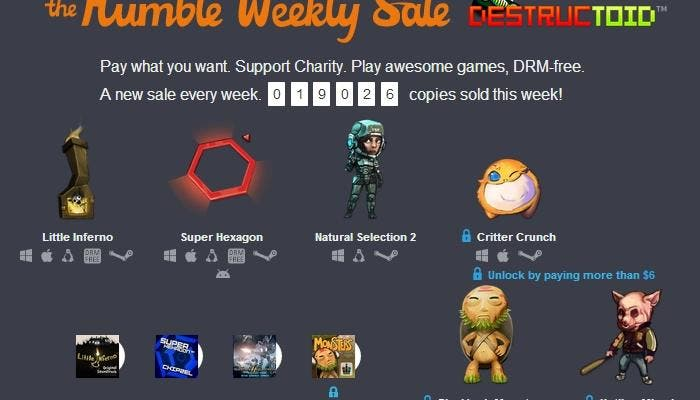 Humble Bundle Weekly Sale PixelJunk Monsters Hotline Miami Little Inferno