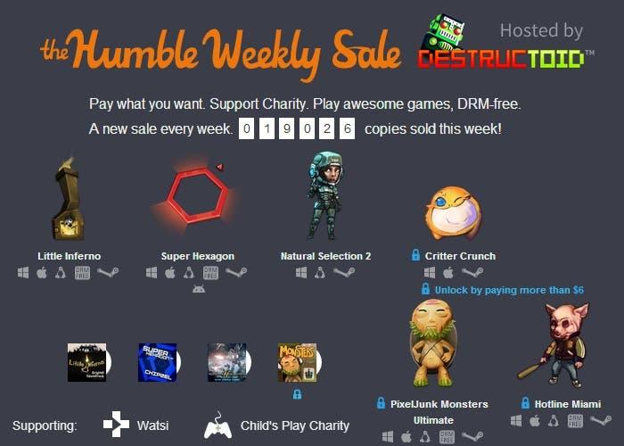 Humble Bundle Weekly Sale PixelJunk Monsters Hotline Miami Little Inferno