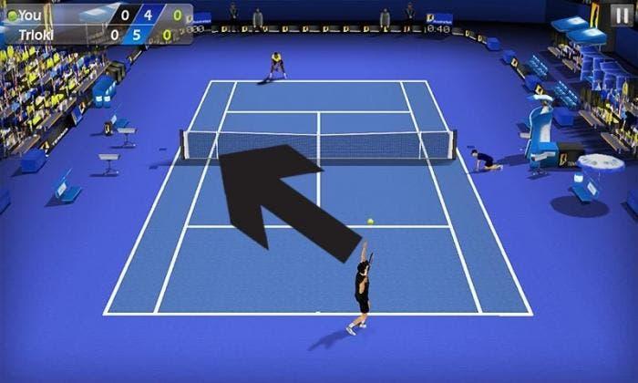 Tennis 3D saque