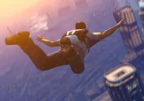 Trevor en paracaídas