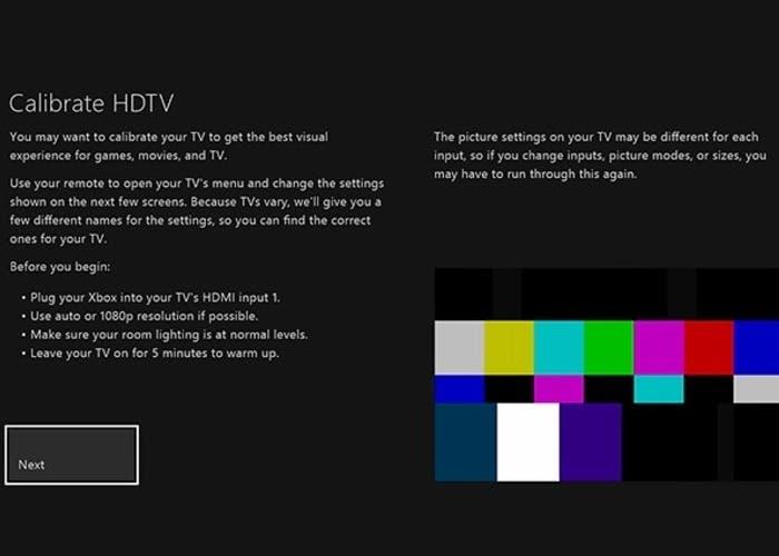 calibrar tv con xbox one