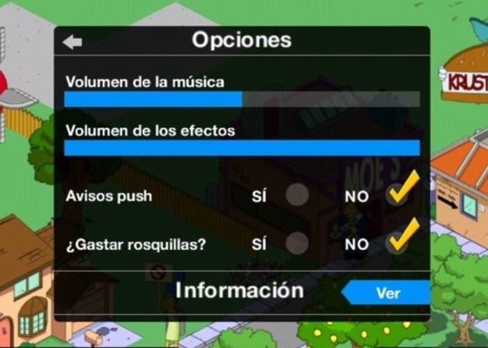 Los Simpson opciones