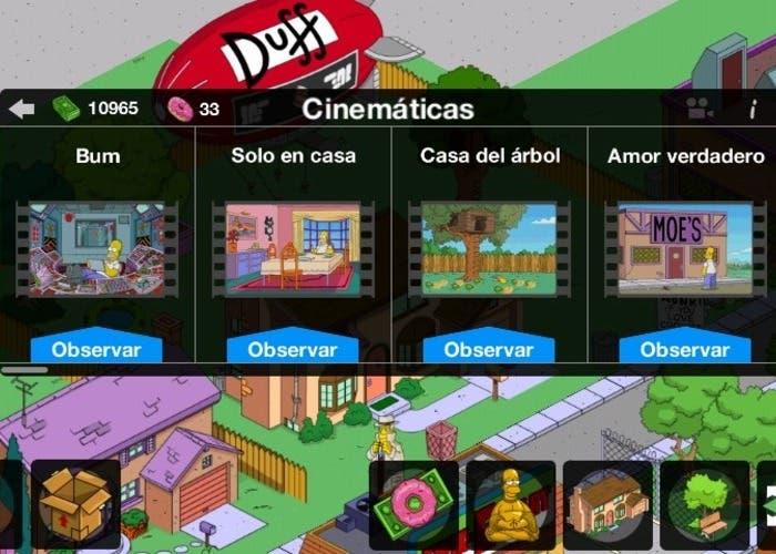 Los Simpson cinematicas