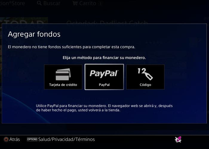 PayPal en PS4
