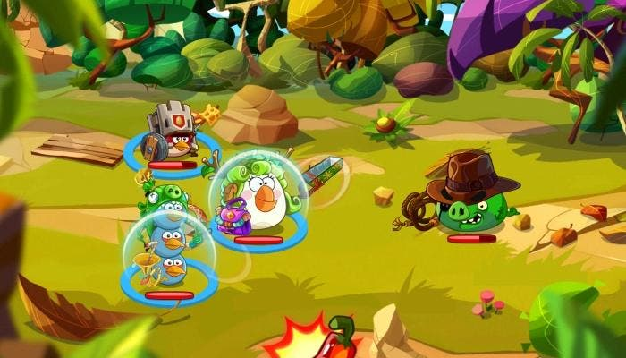 Angry Bird Epic cerdo jefe aventurero Indiana Jones