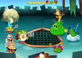 Angry Birds Epic ultimo nivel castillo del rey cerdo