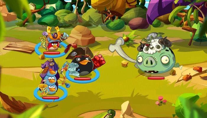 Angry Birds batalla cerdo zombie Stanley el tufos