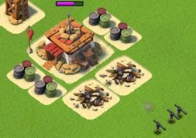 Destruir cuartel general en Boom Beach