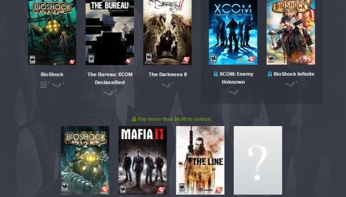 Humble Bundle 2K Games XCOM BioShock Spec Ops