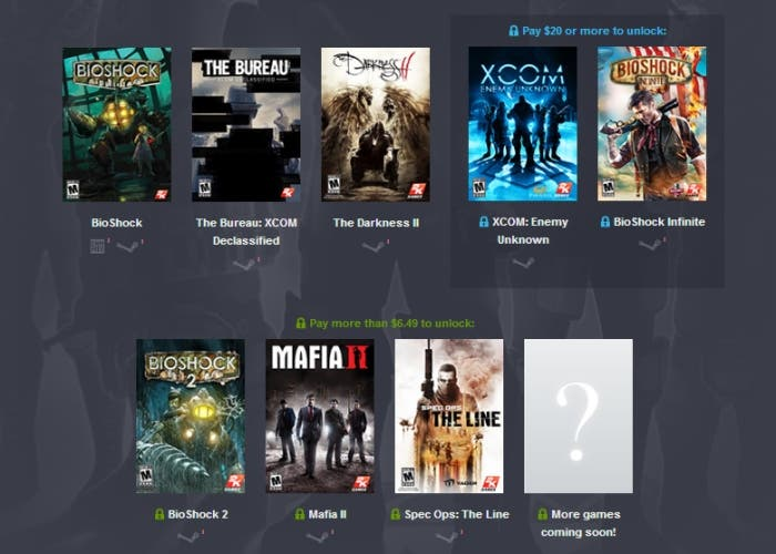 Humble Bundle 2K Games XCOM BioShock Spec Ops