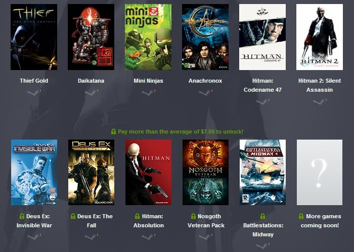 Humble Bundle Square Enix Eidos