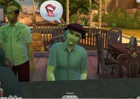 Evil Da Vinci en un bar en los Sims 4