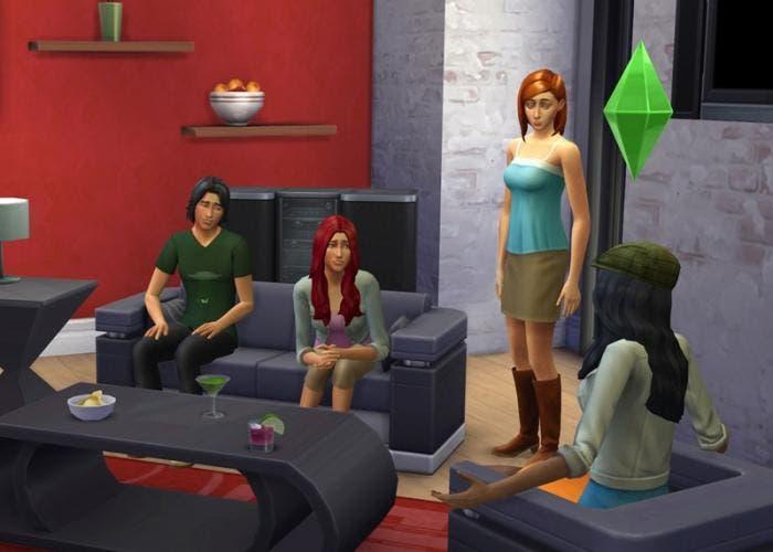 Momento de juego en Los Sims 4