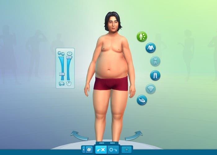 Crear cuerpo de Sim