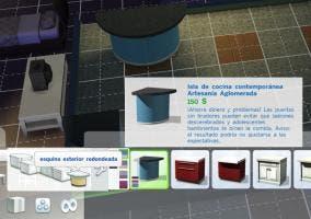 Encimeras redondas en Los Sims 4