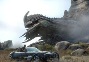 Final Fantasy XV criatura y coche
