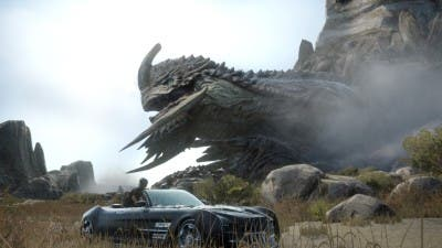Final Fantasy XV criatura y coche