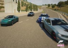 foto tomada de una carrera en Forza Horizon 2