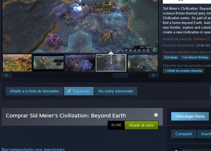 Demo Steam Beyond Earth