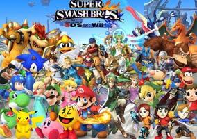 Portada y personajes Super Smash Bros