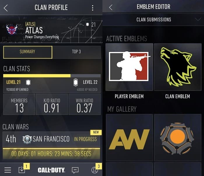 Aplicacion móvil Call Of Duty Advanced Warfare