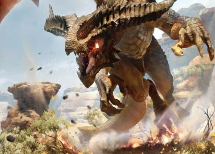 Imagen de un dragon en Dragon Age Inquisition