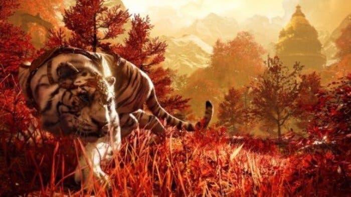 Imagen artística de un tigre del Himalaya