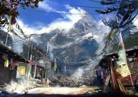 Imagen de una aldea kyrat