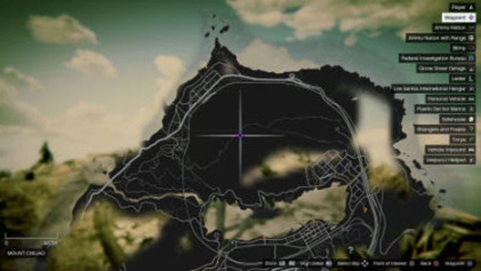 Mapa con la localizacion de una planta
