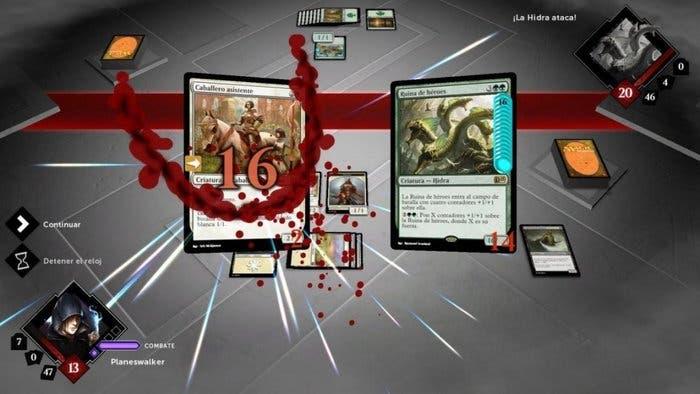 Captura de pantalla de un combate