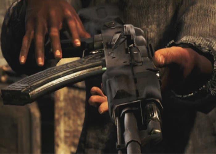 Detalle de un AK-47