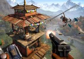 Imagen de una torre en Far Cry 4