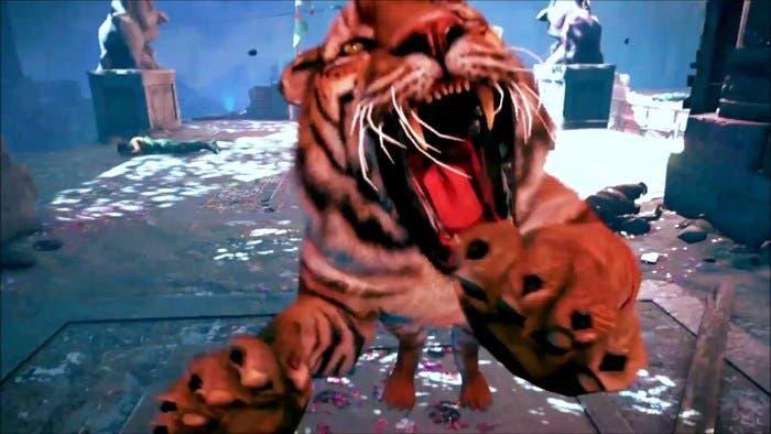 imagen del ataque de un tigre