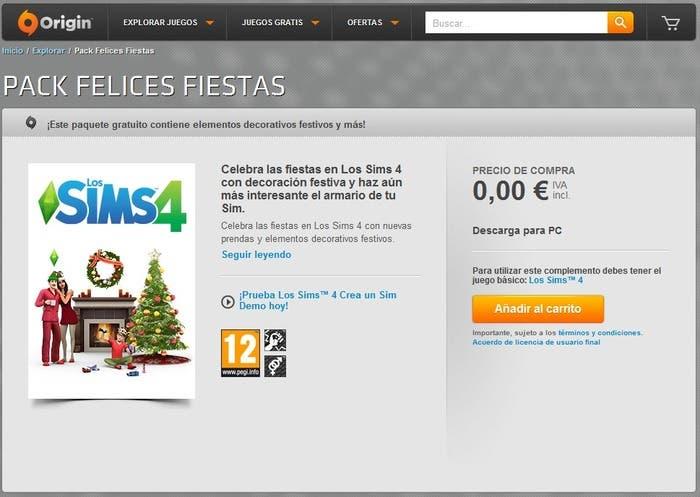 Pack felices fiestas Sims 4
