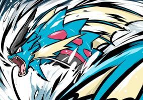 Megagyarados y gyaradosita en Pokémon Rubí Omega y Pokémon Zafiro Alfa