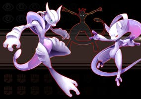 MegaMewtwo en Pokémon Rugí Omega y Pokémon Zafiro Alfa