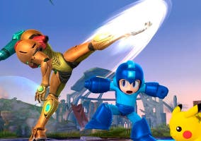 Super Smash Bros U Samus Pacman Pikachu conseguir demos