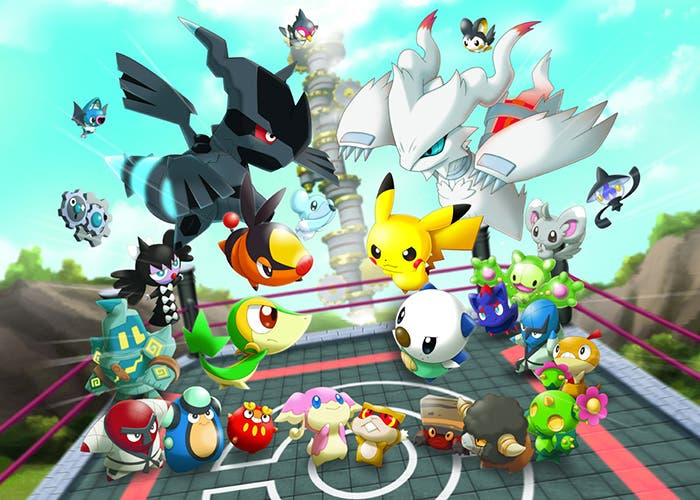 Pokémon Rumble World partida en cancha