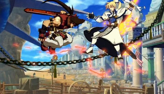 Escena de una batalla en Guilty Gear Xrd SIGN